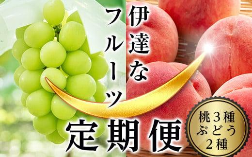 【先行予約】 伊達なフル-ツ定期便(桃3種×3kg・ぶどう2種)  F20C-178