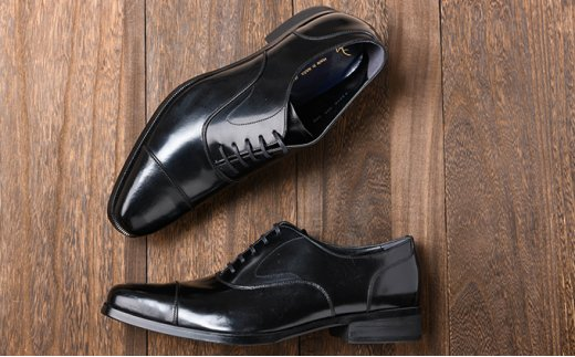 [№5990-0140]倭イズム 牛革マッケイビジネスシューズ紳士靴YAP600(ブラック)