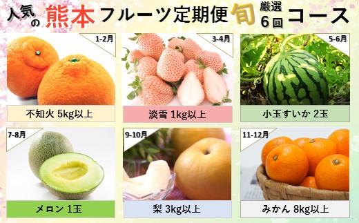 YF02 【定期便】熊本人気フルーツ 玉名市産  [旬な季節に合計6回発送]