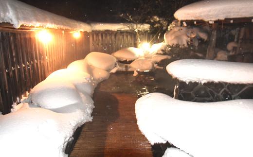 雪見温泉で東北の冬を楽しめます。