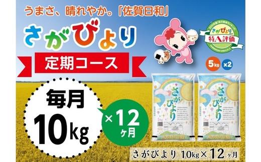 【定期便12ヶ月】10年連続最高評価特A受賞米! さがびより10kg (H015115)