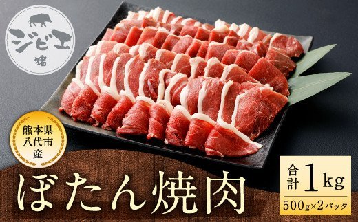 八代産 ぼたん 焼肉 猪肉 ジビエ 500g×2  約1kg もも肉
