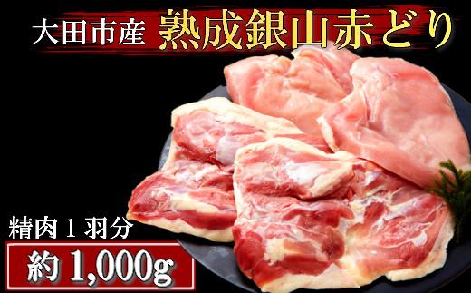B261 【熟成】地鶏の銀山赤どり精肉(1羽分)熟成加工鶏肉