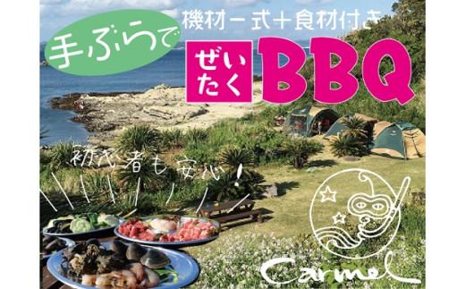 海岸沿いの全面芝生のロケーションでBBQ(BBQ機材一式/~4名様)ご利用チケット<食材付きプラン>
