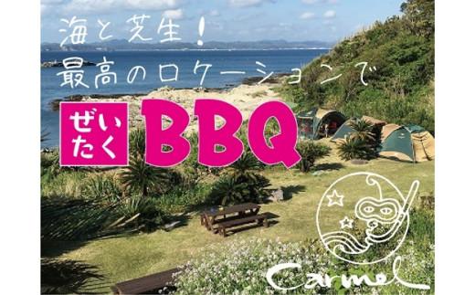 海岸沿いの全面芝生のロケーションでBBQ(BBQ機材一式/~4名様)ご利用チケット<食材なしプラン>
