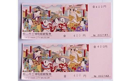 館山市立博物館 入館ペアチケット