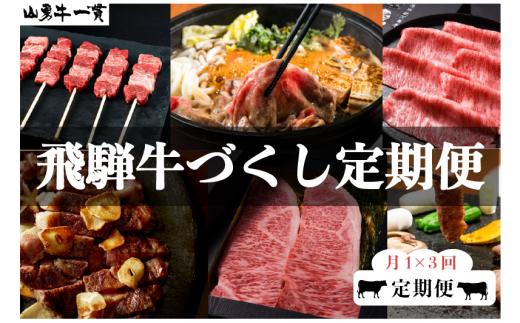 【数量限定】飛騨牛 定期便 3回3か月 焼肉 牛串 ステーキ すき焼き しゃぶしゃぶ サーロイン など 和牛 肉 定期便