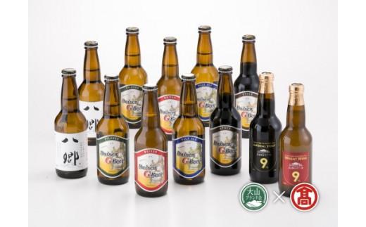 定期便全2回 〈地ビール飲み比べ〉①475ビール  ②大山Gビール(大山ブランド会)クラフトビール 高島屋 タカシマヤ 0397.40-J8