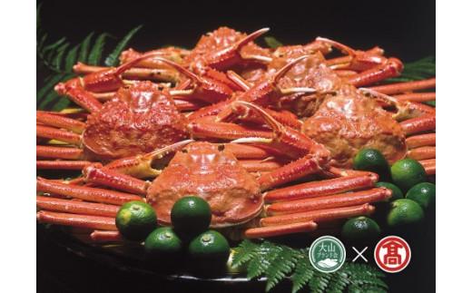 茹で蟹セット 松葉ガニ 約700g×2枚(大山ブランド会)高島屋 タカシマヤ 0400.70-AA3