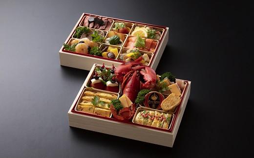 【冷蔵】老舗料亭の洋風オードブル 弐段重(おせち)【萬谷】