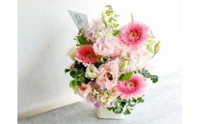 【頒布会12回】八女のお花を使った「毎月の月命日に届くペットの御供え花」