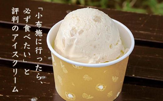 数ある小布施の栗菓子の中でも、多くの観光客から支持されているのが小布施堂の栗アイスクリームです。