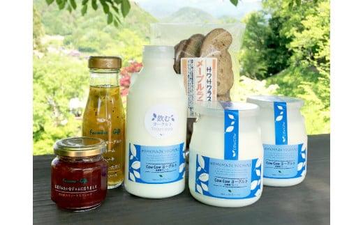 飛騨高山 CowCowヨーグルト 5種 ファミリーセットA ジャム フルーツソース  ラスク 付き 乳製品 b588