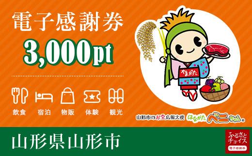 FY20-533 山形市 電子感謝券 3,000pt(1pt=1円)