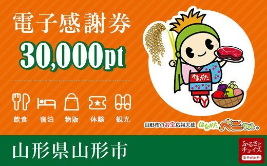 FY20-534 山形市 電子感謝券 30,000pt(1pt=1円)