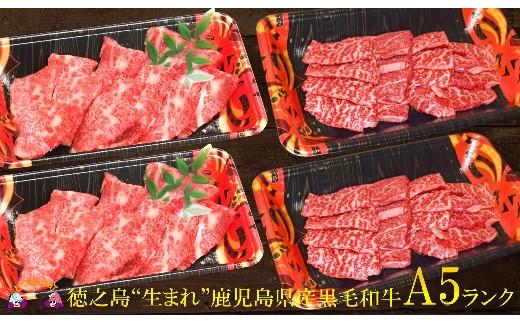 """880徳之島""""生まれ""""A5ランク鹿児島県産黒毛和牛ファミリー焼肉""""幸せ""""ギフト"""