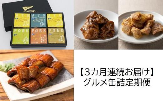 [1345]【3カ月連続お届け】グルメ缶詰定期便