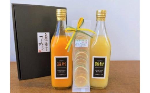みかんジュースストレート(温州・瓢柑)500ml×2本とドライかぼすセット【1116801】