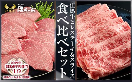 H-3 但馬牛ヒレステーキ&ロースすき焼き用 食べ比べセット