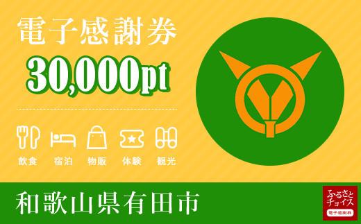 有田市電子感謝券 30,000pt(1pt=1円)