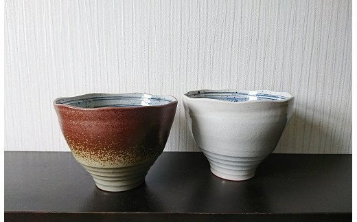 H-5 大谷焼 幻の渦潮麺鉢 2個