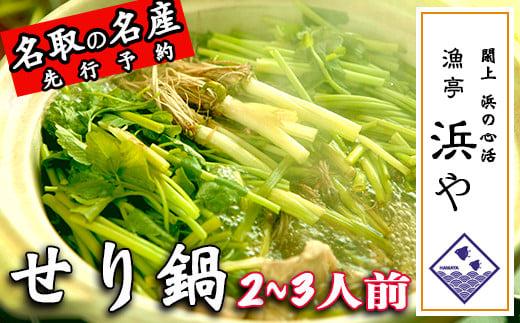【お届け日時指定必須】名取名産「せり鍋セット」2、3人前 根・茎・葉をすべて楽しむ