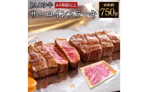 【数量限定】宮崎黒毛和牛<JAこゆ牛>サーロインステーキ750g(250g×3枚)【C1】