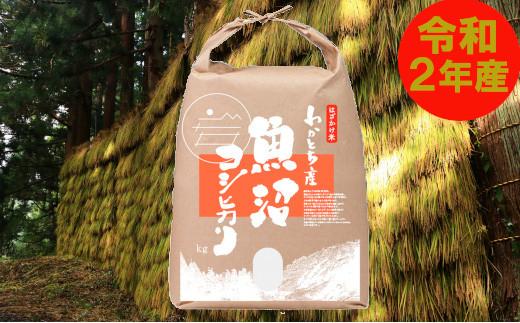 数量限定!わかとち産魚沼コシヒカリ特別栽培棚田米 はさかけ米5kg