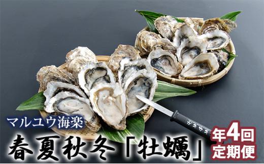 [№5863-0479]季節によって味が違う!春夏秋冬「牡蠣」年4回お届け定期便