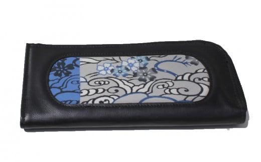 コザ工芸館ふんどぅ[紅型]長財布:L字型(桜文様藍型)
