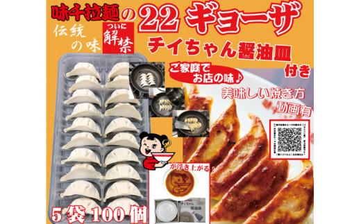 No.113 味千ギョーザ100個セット!!(チィちゃん醤油皿付き)  / 餃子 熊本県 特産品