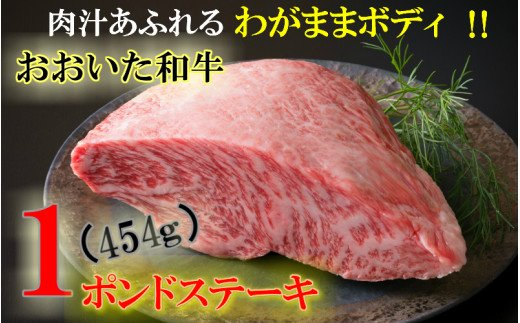 A29365 まさに肉のエアーズロック〃おおいた和牛1ポンド極厚ステーキ・通