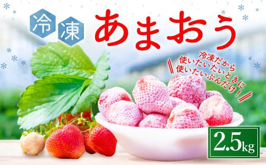 【先行予約 4月以降発送】あまおう 冷凍 2.5㎏ いちご 苺 減農薬