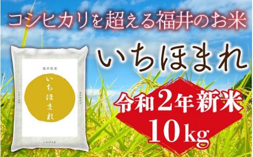 1173 令和二年産新米 福井県産いちほまれ10kg