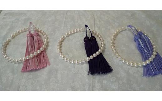 "【BP-1】あこや本真珠8ミリ珠の""数珠"""