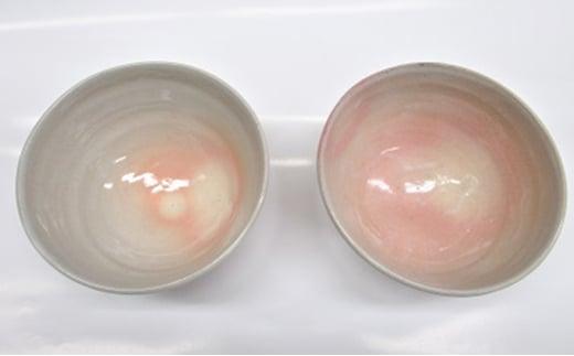 [№5226-0014]萩焼 8代佳炎作  姫土  飯茶碗セット