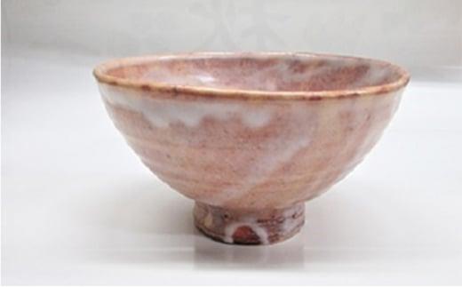 [№5226-0025]8代佳炎作 萩焼 抹茶茶碗(井戸)