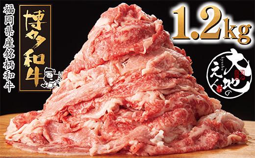 F71-51 どどんと大容量!!大地のえん 博多和牛切り落とし1.2kg