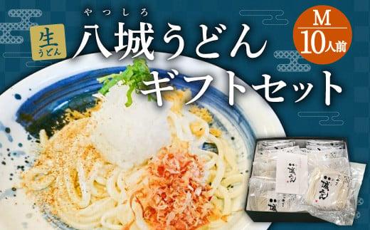 【思いやり型返礼品】八城うどん ギフトセット 生うどん スープ付 10袋