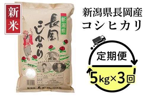 73-053【3ヶ月連続お届け】新潟県長岡産コシヒカリ5kg