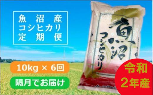 魚沼産コシヒカリ定期便 10kg×6回/隔月でお届け(JA越後おぢや)