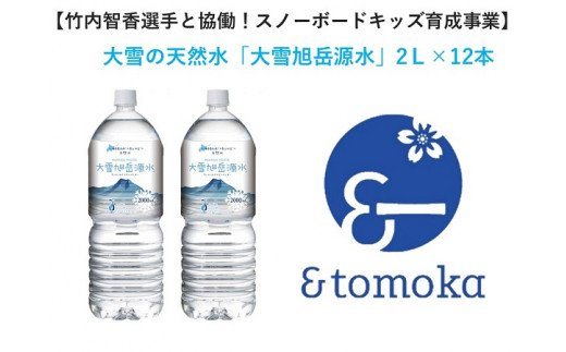 【特定事業応援品】水と暮らすまちから大雪の天然水「大雪旭岳源水」2L×12本【10001011】