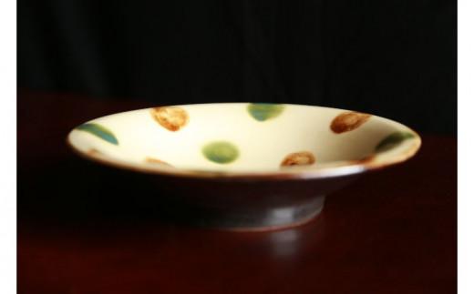 常秀工房 7寸皿(三彩)