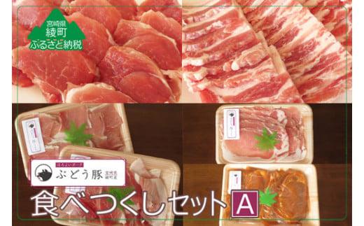 36-78_『綾ぶどう豚』やわらか味噌 食べつくし5種セットA