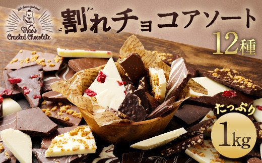 割れチョコ アソート 12種 計1㎏ チャック付き チョコレート
