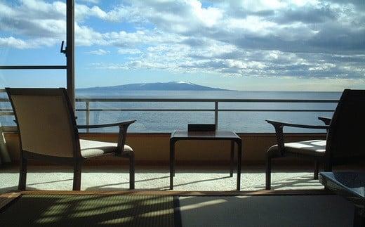 E017 眺望自慢の熱川館 平日限定 海側眺望自慢客室ペア宿泊券