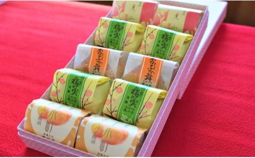 07-34 和菓子詰合せ 鹿の子の「いろどり」(4種10個)