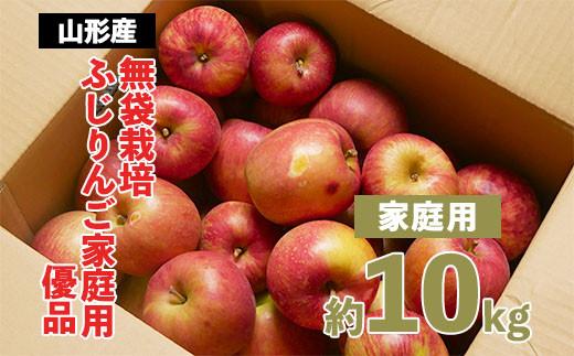 FY20-579 【家庭用】無袋栽培ふじりんご 優品 約10kg入り
