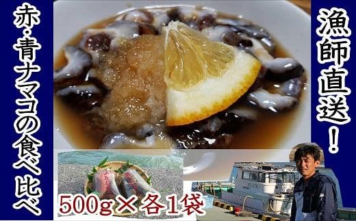 B4-01 修福丸ん赤・青ナマコの食べ比べ!(赤・青各1袋)