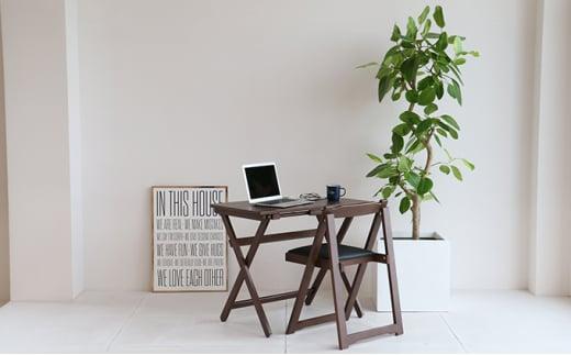 [№5698-0718]《2021年4月中旬以降発送予定》Desk & Chair Set ブラウン